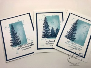 Christmas Card With Evergreen Elegance and Watercolor Shapes