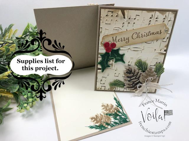 Beautiful Vintage Christmas card with Christmas Season Stamp Set.