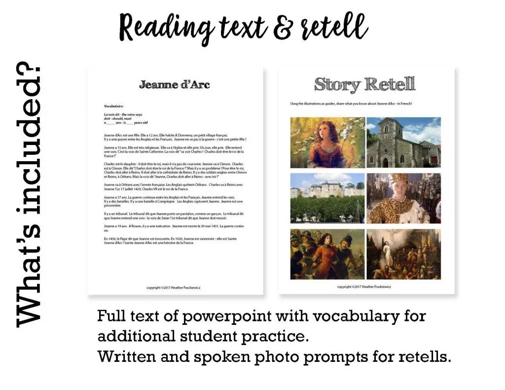 Comprehensible Input Lesson Joan Of Arc