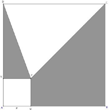 Second degré et Géométrie 2D, Carré, triangle, aires, Première