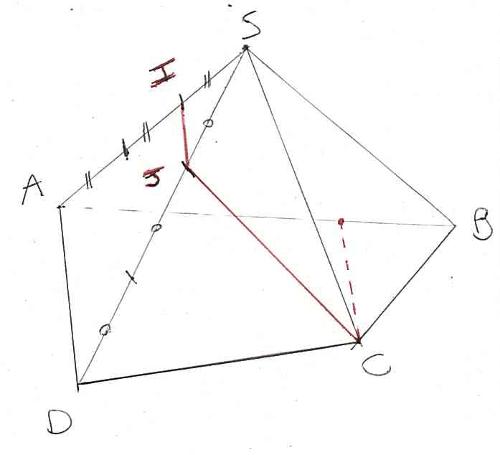 pyramide tracer droite parallèle face
