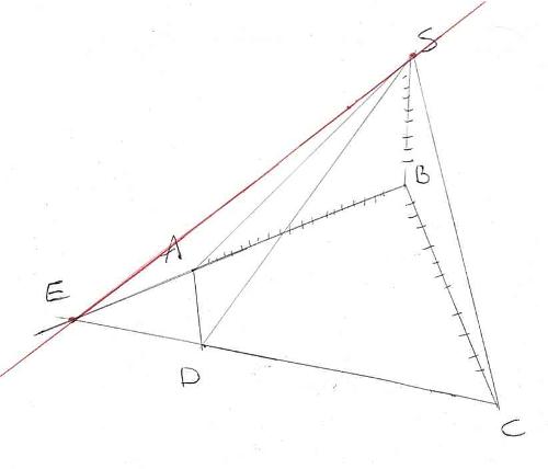 géométrie dans l'espace, droite d'intersection