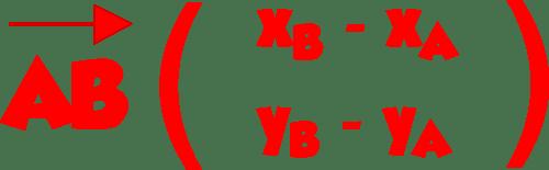 formule coordonnées vecteur