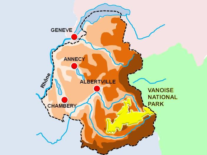 Situation Map of Vanoise © French Moments