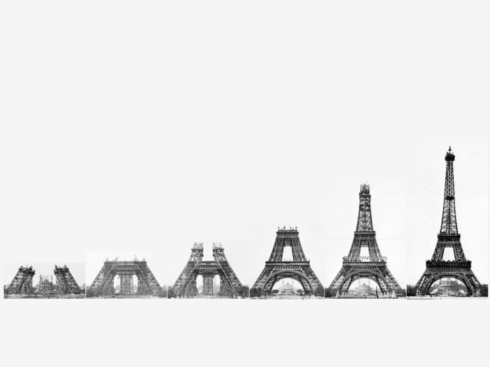 Construction Stages of the Eiffel Tower