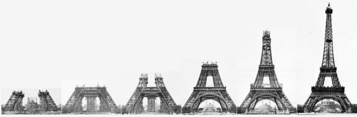 Construction Stages Eiffel Tower