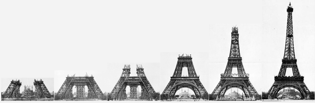 Construction Stages Eiffel Tower French Moments