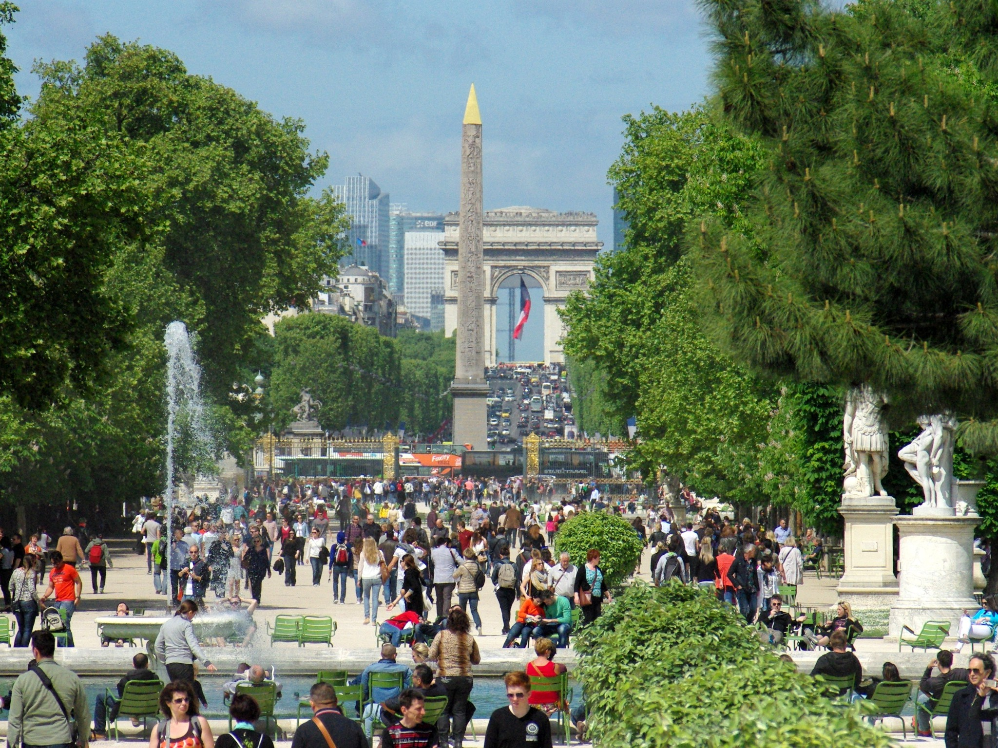 the historical axis seen from the louvre french moments - Tuileries Garden