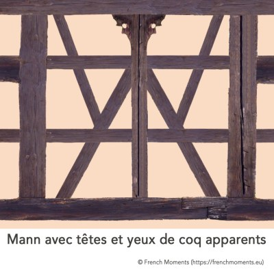 Maison Alsacienne Mann et coq © French Moments