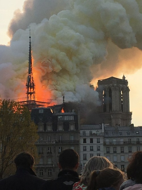 Notre-Dame Fire © Antoninnnnn - licence [CC BY-SA 4.0] from Wikimedia Commons