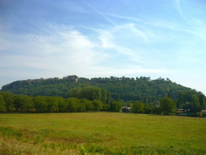 The bastide of Domme perched atop the hill © French Moments