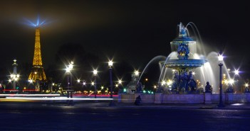 Place de la Concorde and Eiffel Tower by night © French Moments