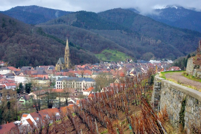 Alsace Wine Route - Thann from Rangen in Winter © French Moments