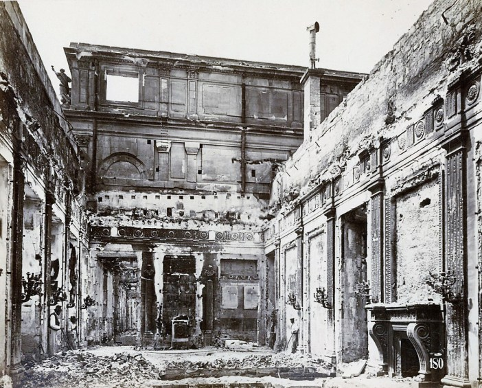 The Palais des Tuileries in ruins