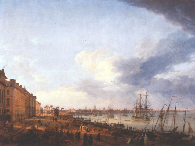 Port of Bordeaux in 1758
