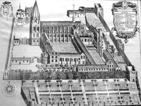 Vendôme Abbey in the past