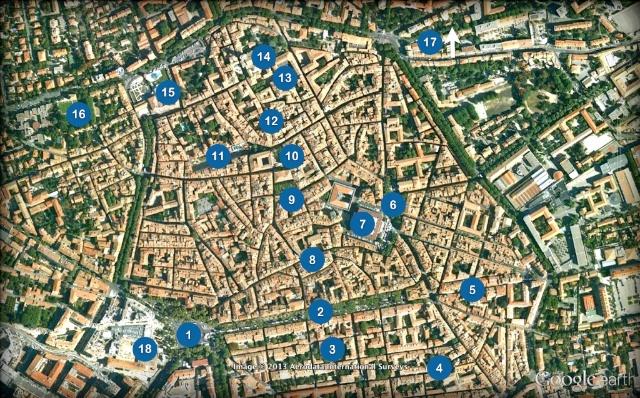 Aix-en-Provence Old Town Map