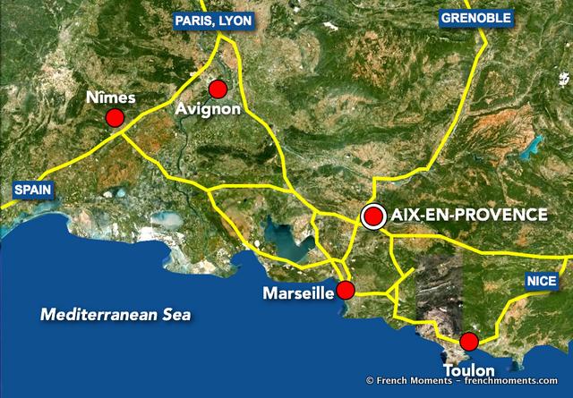 Aix-en-Provence Situation Map