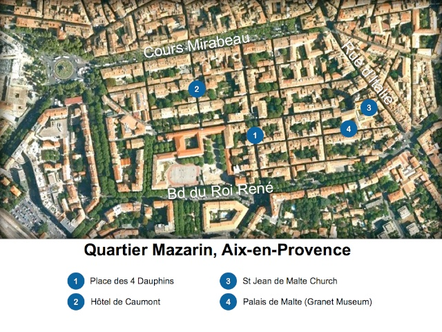 Aix-en-Provence Map Quartier Mazarin