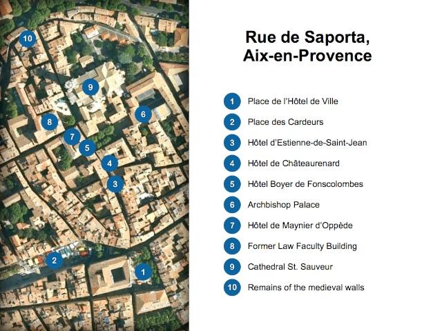 Aix-en-Provence Map Rue de Saporta