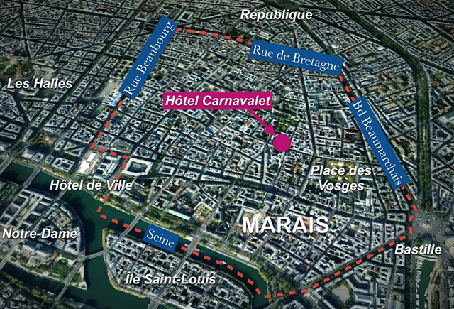 Hôtel Carnavalet Map