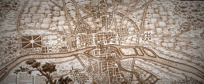 Map of Paris in 1223