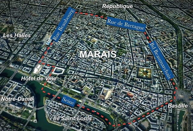Map of Marais