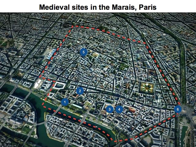 medieval paris in the marais