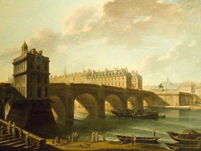 The Pont Neuf, the Samaritaine and the point of the Cité island