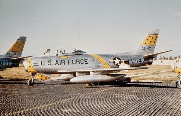USAirforce aircrafts at Chambley, Lorraine