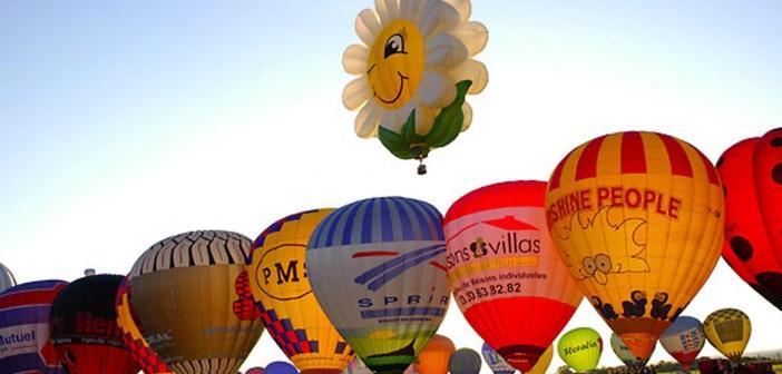 Hot-air balloons at Chambley air-base © Wikig – licence [CC BY-SA 3