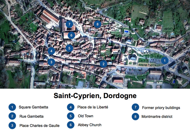 Saint-Cyprien Map Website