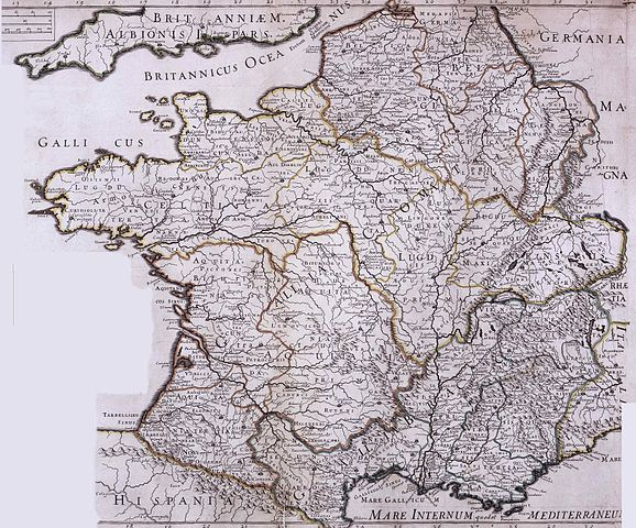 An 18th Century Map of Ancient Gaul (public domain)