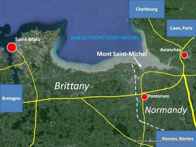 Location map Mont Saint-Michel