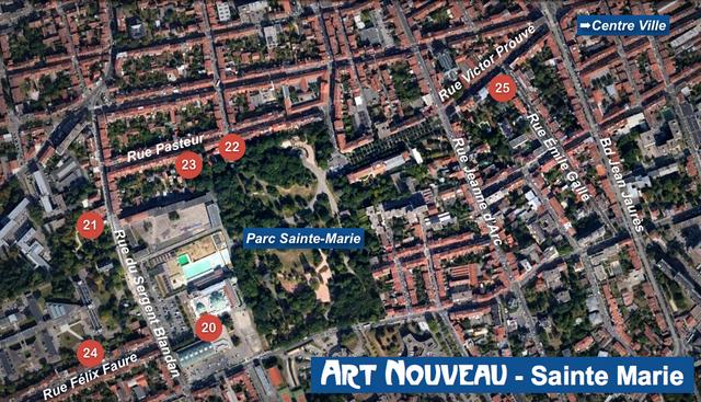 Nancy Art Nouveau - Sainte Marie Map
