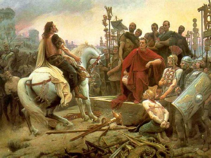 Vercingetorix throws down his arms at the feet of Julius Caesar