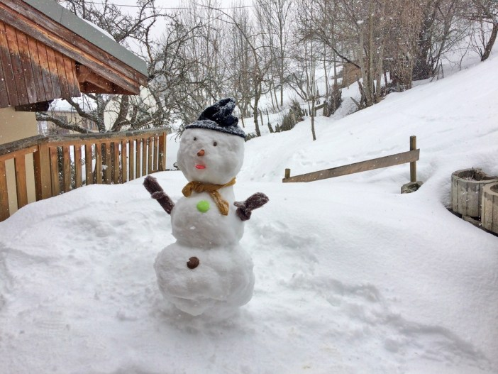 Snowman in Granier, French Alps of Savoie © French Moments
