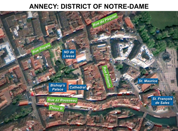 Map of Notre-Dame district, Annecy