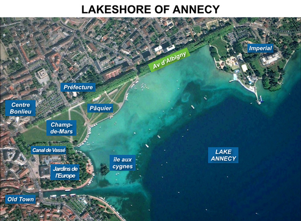 Annecy Lakeshore Map French Moments