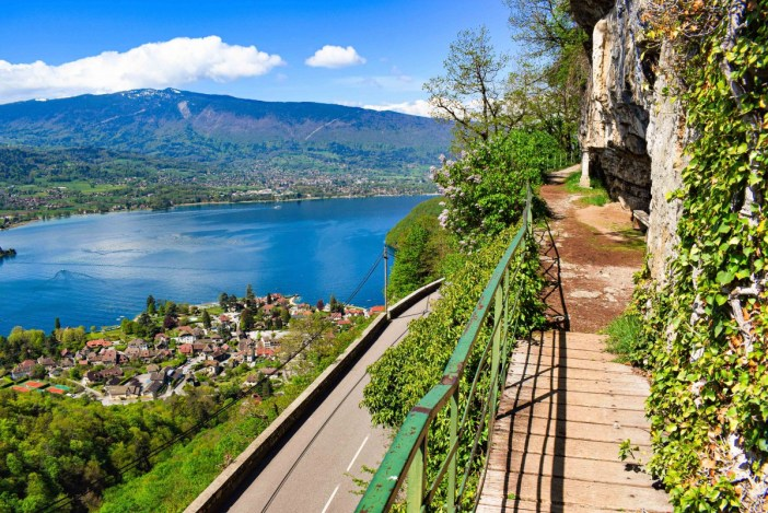 View from the St. Germain shrine, Lake Annecy © French Moments