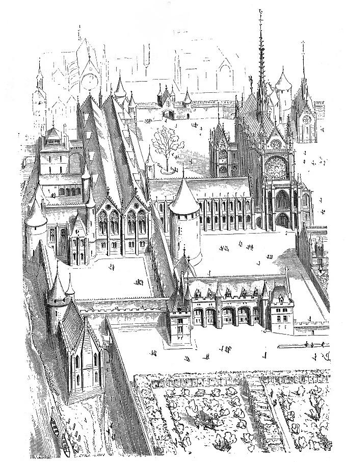 Conciergerie Palais de Justice by Viollet le Duc 1856