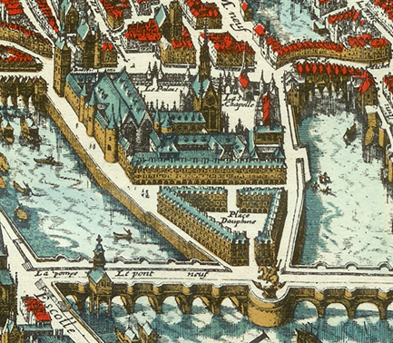 Palais de la Cité in 1615
