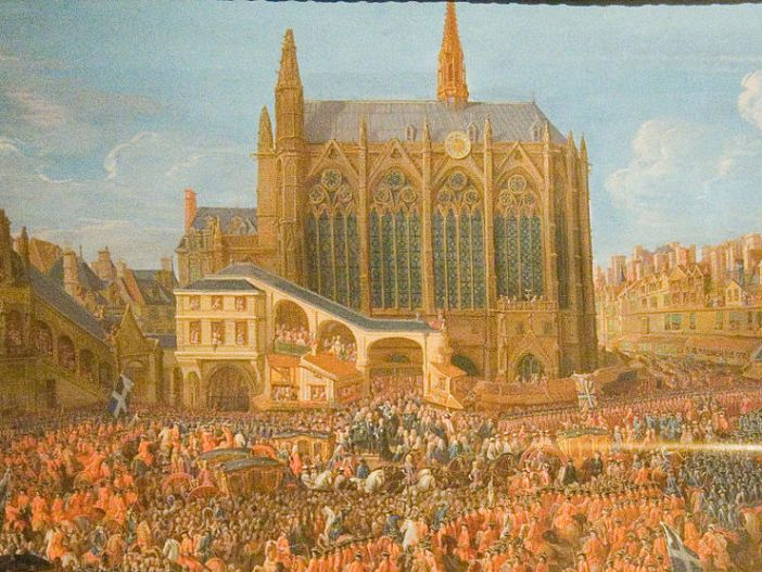 The Sainte-Chapelle in 1715, painting by Pierre Denis Martin