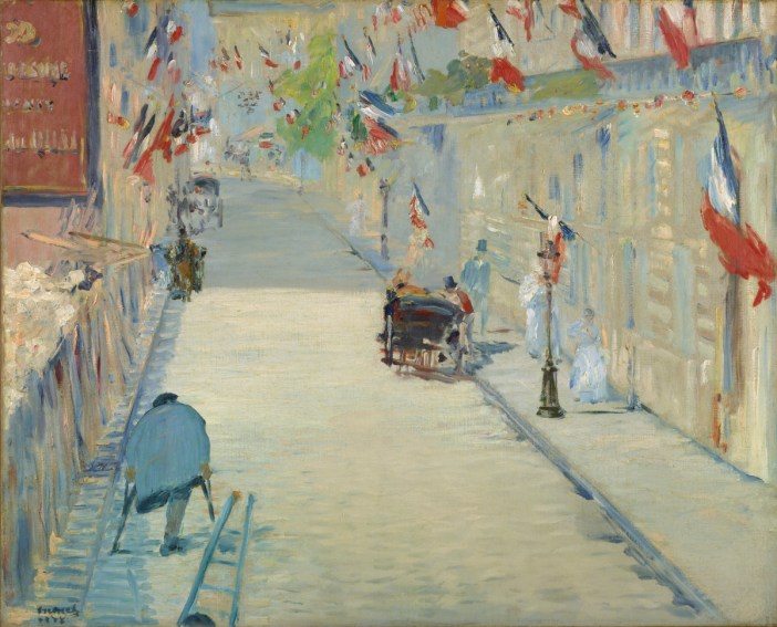 The Rue Mosnier with Flags, Edouard Manet 1878