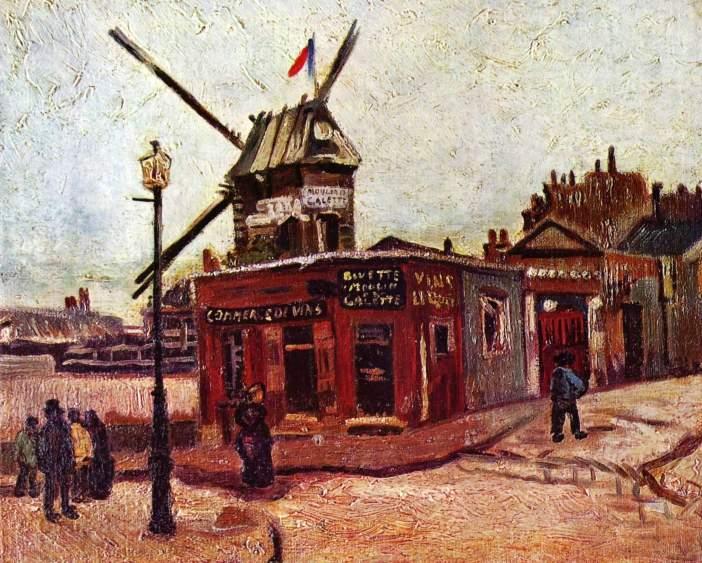 Le Moulin de la Galette by Vincent van Gogh 1886