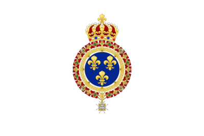 Royal flag of France during the Bourbon Restoration © Sodacan - licence [CC BY-SA 4.0] from Wikimedia Commons