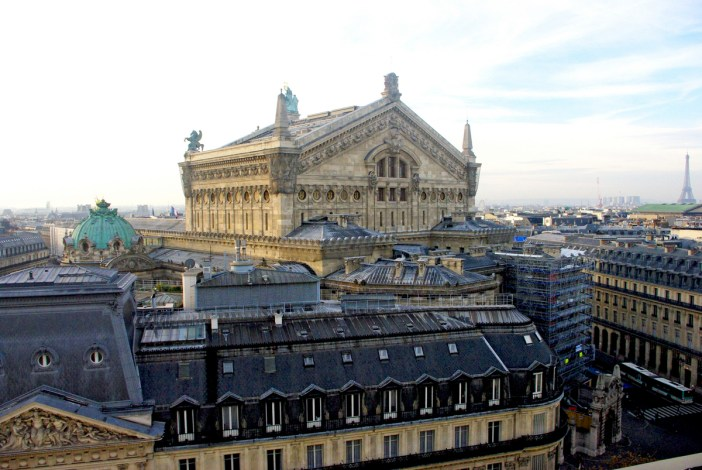 Palais Garnier viewed from Galeries Lafayette copyright French Moments