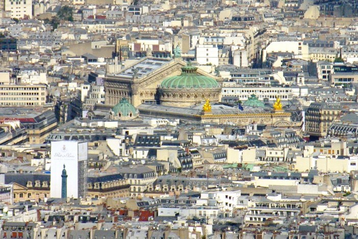 Palais Garnier viewed from Tour Montparnasse copyright French Moments