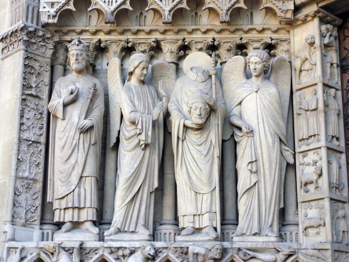 The Statues of the Portal of the Virgin, Notre Dame de Paris © French Moments