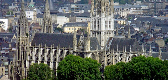 General View of Saint Ouen Abbey Church in Rouen copyright French Moments